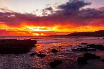 Hermanus sunset, Overberg, Whale Coast